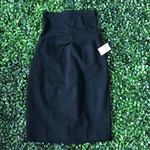 Black Pencil Maternity Skirt